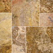 MS International Scabas Pattern Honed-Unfilled-Chipped-Brushed Travertine Floor and Wall Tile (5 kits / 80 sq. ft. / pallet)-TTSCAB-PAT-HUCB 205762425