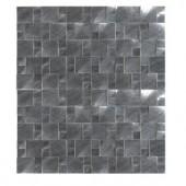 MS International Silver Aluminum Pattern 12 in. x 12 in. x 8 mm Brushed Metal Mesh-Mounted Mosaic Tile-MET-SLVAL 204688460