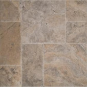MS International Silver Pattern Honed-Unfilled-Chipped-Brushed Travertine Floor and Wall Tile (5 kits / 80 sq. ft. / pallet)-TTSIL-PAT-HUCB 205762419
