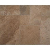 MS International Walnut Onyx Pattern Honed-Unfilled-Chipped Travertine Floor and Wall Tile (5 kits / 80 sq. ft. / pallet)-TTWALOX-PAT-HUC 205762426