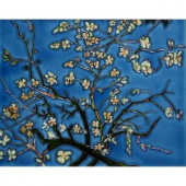 overstockArt Van Gogh, Branches of an Almond Tree in Blossom Trivet and Wall Accent 11 in. x 14 in. Tile (felt back)-FTVG40411X14 203066622