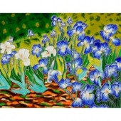 overstockArt Van Gogh, Irises Trivet and Wall Accent 11 in. x 14 in. Tile (felt back)-FTVG40111X14 203066616