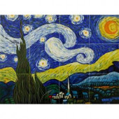 overstockArt Van Gogh, Starry Night Mural 18 in. x 24 in. Wall Tiles-TVG4076X6X12 203066648
