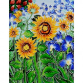 overstockArt Van Gogh, Sunflowers and Irises Trivet and Wall Accent 11 in. x 14 in. Tile (felt back)-FTVG40011X14 203066614