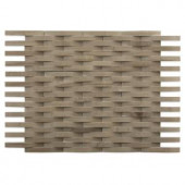 Splashback Tile 3D Reflex Athens Gray 9 in. x 11.5 in. x 12 mm Marble Mosaic Wall Tile-3D REFLEX ATHENS GREY STONE TILES 203288559