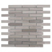 Splashback Tile Athens Grey 12 in. x 12 in. x 8 mm Polished Marble Floor and Wall Tile-ATHENS GREY POLISHED STACK MARBLE TILE 203478063