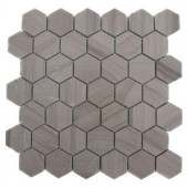 Splashback Tile Athens Grey Hexagon 12 in. x 12 in. x 8 mm Polished Marble Floor and Wall Tile-ATHENS GREY HEXAGON POLISHED MARBLE TILE 203478061