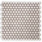 Splashback Tile Bliss Edged Hexagon Eskimo 12 in. x 12 in. x 10 mm Polished Ceramic Mosaic Tile-BLISSEGDHEXPOLESKIMO 206496928