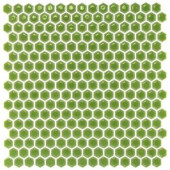 Splashback Tile Bliss Edged Hexagon Wheat Grass 12 in. x 12 in. x 10 mm Polished Ceramic Mosaic Tile-BLISSEGDHEXPOLWHEATGRASS 206496924