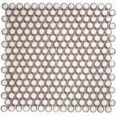 Splashback Tile Bliss Edged Penny Round Eskimo 12 in. x 12 in. x 10 mm Polished Ceramic Mosaic Tile-BLISSEGDPNYRNDPOLESKIMO 206496937