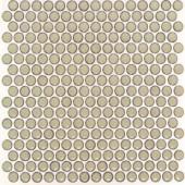 Splashback Tile Bliss Edged Penny Round Khaki 12 in. x 12 in. x 10 mm Polished Ceramic Mosaic Tile-BLISSEGDPNYRNDPOLKHAKI 206496932
