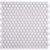 Splashback Tile Bliss Hexagon White 12 in. x 12 in. x 10 mm Polished Ceramic Mosaic Tile-BLISSHEXPOLWHT 206496916