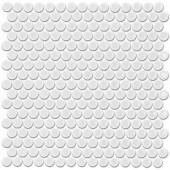 Splashback Tile Bliss Penny Round White 12 in. x 12 in. x 10 mm Polished Ceramic Floor and Wall Mosaic Tile-BLISSPNYRNDPOLWHT 206496919