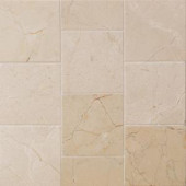 Splashback Tile Brushed Travertine 4 in. x 4 in. Marble Floor and Wall Tile (9-Pieces)-BR4X4WLDTR 207125537