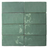Splashback Tile Catalina Green Lake 3 in. x 6 in. x 8 mm Ceramic and Wall Subway Tile-CATALINA3X6GREENLAKE 206496900