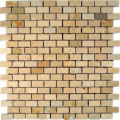 Splashback Tile Crema Marfil Bricks 12 in. x 12 in. x 8 mm Marble Floor and Wall Tile-CREMA MARFIL1/2X1 BRICKS MARBLE TILE 203478152
