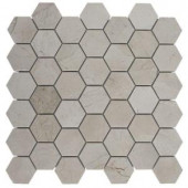Splashback Tile Crema Marfil Hexagon 12 in. x 12 in. x 8 mm Polished Marble Floor and Wall Tile-CREMA MARFIL HEXAGON POLISHED MARBLE 203478150