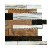 Splashback Tile Matchstix Mockingbird 3 in. x 6 in. x 8 mm Glass Mosaic Floor and Wall Tile Sample-C2C6 GLASS TILE 204278954