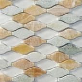 Splashback Tile Micro Grass Seed Glass and Marble Floor and Wall Tile - 3 in. x 6 in. Tile Sample-SMP-MICRO-GRASS-SEEDSAMPLE 206347090