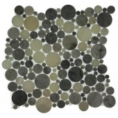 Splashback Tile Orbit Foggy Circles 12 in. x 12 in. x 8 mm Mosaic Floor and Wall Tile-ORBIT FOGGY CIRCLES 204688672