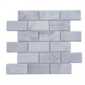 Splashback Tile Oriental 12 in. x 12 in. x 8 mm Marble Mosaic Floor and Wall Tile-ORIENTAL 2X4 MARBLE TILE 203478220