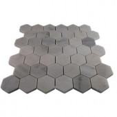 Splashback Tile Oriental Hexagon 12 in. x 12 in. x 8 mm Marble Floor and Wall Tile-ORIENTAL HEXAGON MARBLE TILE 203478059