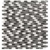 Splashback Tile Paradox Silver Mix Mini Brick Glass Tile - 3 in. x 6 in. Tile Sample-SMP-PARADOX-SILVER-MIXSAMPLE 206347096