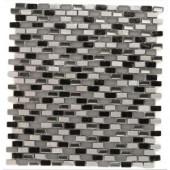 Splashback Tile Paradox Space Mini Brick Glass Tile - 12 in. x 12 in. Tile Sample-SMP-PARADOX-SPACESAMPLE 206347095