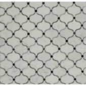 Splashback Tile Steppe Eastern Carrera Polished Marble Waterjet Mosaic Floor and Wall Tile - 3 in. x 6 in. Tile Sample-L2D6STPESTCRA 206705828