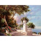 The Tile Mural Store Balcony at Lake Como 17 in. x 12-3/4 in. Ceramic Mural Wall Tile-15-1322-1712-6C 205842756