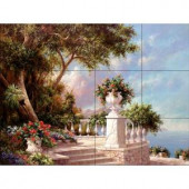 The Tile Mural Store Balcony at Lake Como 24 in. x 18 in. Ceramic Mural Wall Tile-15-1322-2418-6C 205842755