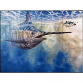 The Tile Mural Store Chasing the Carrot 24 in. x 18 in. Ceramic Mural Wall Tile-15-2320-2418-6C 205842885