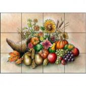 The Tile Mural Store Cornucopia 17 in. x 12-3/4 in. Ceramic Mural Wall Tile-15-137-1712-6C 205842678