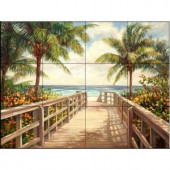 The Tile Mural Store I'm Going to the Beach 24 in. x 18 in. Ceramic Mural Wall Tile-15-1060-2418-6C 205842735