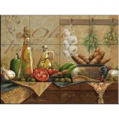 The Tile Mural Store Olio d'Olive 24 in. x 18 in. Ceramic Mural Wall Tile-15-2890-2418-6C 205842914