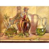 The Tile Mural Store Olive Oil Jars 24 in. x 18 in. Ceramic Mural Wall Tile-15-1334-2418-6C 205842801