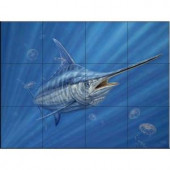 The Tile Mural Store Out of the Blue 17 in. x 12-3/4 in. Ceramic Mural Wall Tile-15-2326-1712-6C 205842888