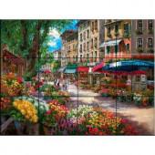 The Tile Mural Store Paris Flower Market 24 in. x 18 in. Ceramic Mural Wall Tile-15-399-2418-6C 205842683