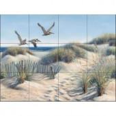 The Tile Mural Store Pelican Trio 24 in. x 18 in. Ceramic Mural Wall Tile-15-108-2418-6C 205842609
