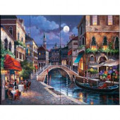 The Tile Mural Store Streets of Venice II 17 in. x 12-3/4 in. Ceramic Mural Wall Tile-15-1813-1712-6C 205842852