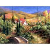 The Tile Mural Store Tuscan Bridge 24 in. x 18 in. Ceramic Mural Wall Tile-15-1359-2418-6C 205839738