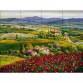 The Tile Mural Store Tuscan Poppy 24 in. x 18 in. Ceramic Mural Wall Tile-15-1377-2418-6C 205842805
