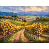 The Tile Mural Store Vineyard Hill I 24 in. x 18 in. Ceramic Mural Wall Tile-15-2693-2418-6C 205842910