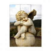 Tile My Style Angel2 18 in. x 24 in. Tumbled Marble Tiles (3 sq. ft. /case)-TMS0015M2 203457939