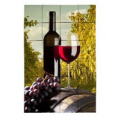 Tile My Style Wine2 24 in. x 36 in. Tumbled Marble Tiles (6 sq. ft. /case)-TMS0013M4 203457931
