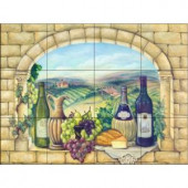Tuscan Wine 17 in. x 12-3/4 in. Ceramic Mural Wall Tile-15-830-1712-4C 205746936