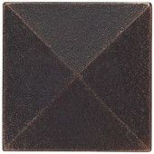 Weybridge 2 in. x 2 in. Cast Metal Pyramid Dot Dark Oil Rubbed Bronze Tile (10 pieces / case)-TILE471070003HD 203381216